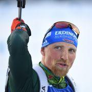 Erik Lesser gewann bei der Biathlon WM 2015 in der Staffel den Doppel-Weltmeistertitel.