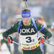 Simon Schempp gewann 2017 den Weltmeistertitel mit seiner Mannschaft um Erik Lesser in der Staffel.