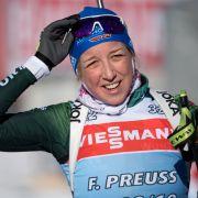 Franziska Preuß wurde Vierte im Einzel bei Olympia 2017/18 und Zweite beim Biathlon Weltcup 2019.