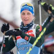 Vanessa Hinz holte sich schon zweimal das Einzelpodest beim Biathlon Weltcup.