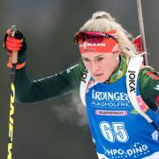 Maren Hammerschmidt holte 2017 in Hochfilzen Gold in der Damen-Staffel.