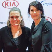 Nadine Angerer mit Partnerin Magdalena Golombek