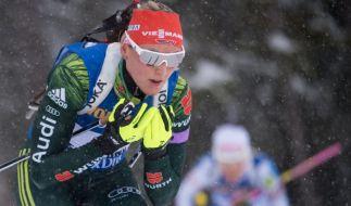 Denise Herrmann aus Deutschland in Aktion. (Foto)