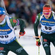 Frauenstaffel in Östersund Vierter - Sieg für Norwegen (Foto)