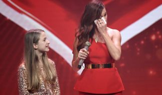 Andrea Berg konnte ihre Tränen nicht zurückhalten. (Foto)