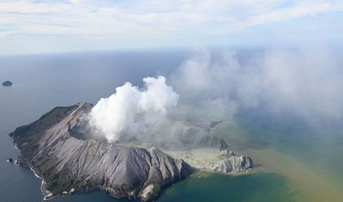 Vulkanausbruch auf Neuseeland