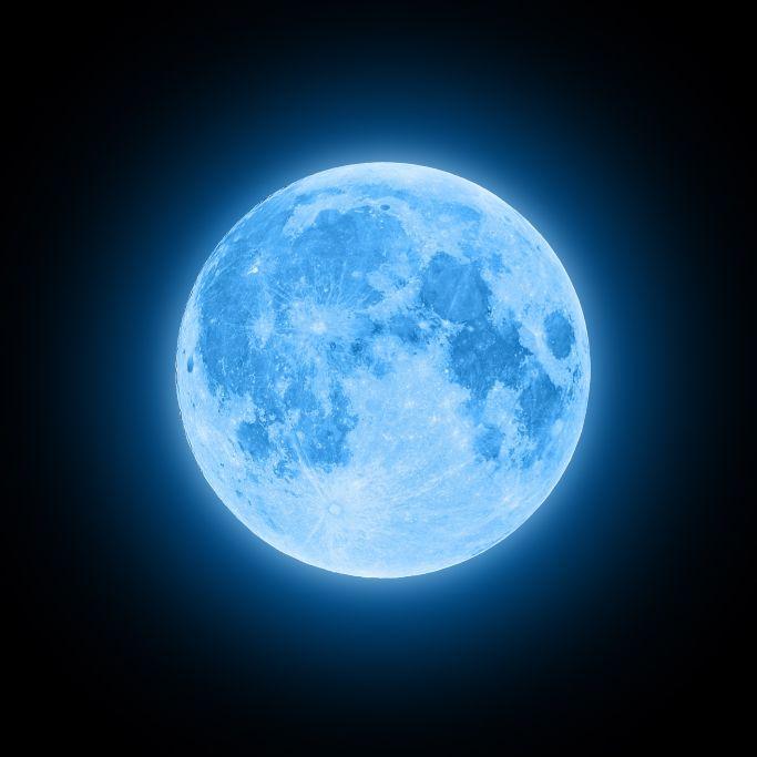 Astro-Spektakel!Blauer Mond erstrahlt dieses Jahr (Foto)