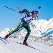 Deutsche Biathleten mit Staffel in Hochfilzen knapp Zweite (Foto)