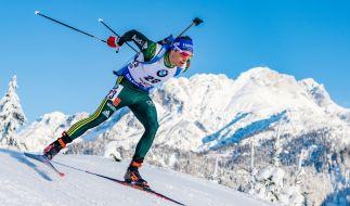 Die deutschen Biathletinnen und Biathleten um Simon Schempp messen sich vom 13. bis 15. Dezember 2019 in Hochfilzen in Österreich in den Disziplinen Sprint, Staffel und Verfolgung. (Foto)