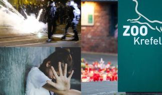 Schocker-News der Woche mit Feuer-Inferno im Krefelder Zoo, Ausschreitungen in Leipzig-Connewitz und Teenager-Tod nach Inzest-Geburt. (Foto)