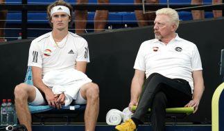Alexander Zverev und Boris Becker. (Foto)