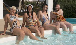 """Sandra Wurster, Paula Lambert, Silvana Denker und Daniel Schneider sind die Coaches bei """"No Body Is Perfect"""". (Foto)"""