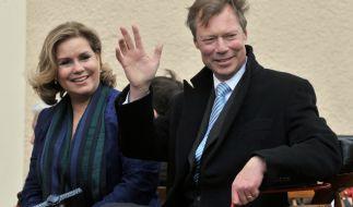 Großherzogin Maria Teresa von Luxemburg, hier mit ihrem Ehemann Großherzog Henri von Luxemburg, hat aus privaten Gründen Termine absagen müssen. (Foto)