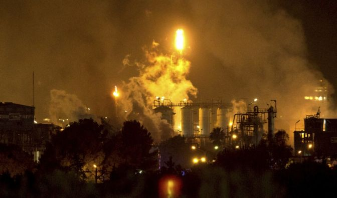 Explosion in Spanien