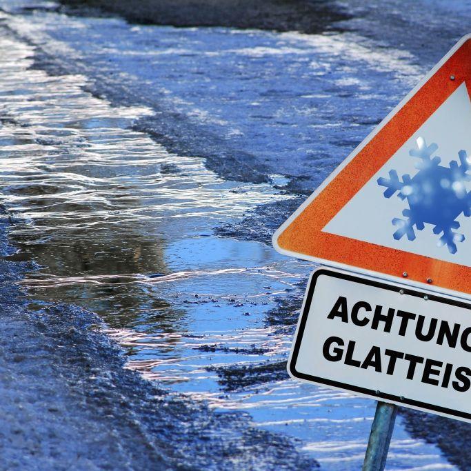 Achtung, Glatteis! HIER herrscht extreme Unfall-Gefahr (Foto)