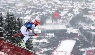 Am Wochenende sind die Ski-Rennfahrer in Kitzbühel in Österreich zu Gast. (Foto)