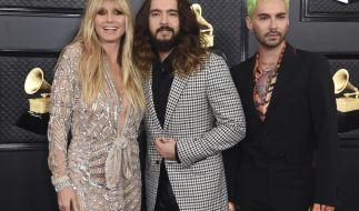 Heidi Klum kam in Begleitung von Tom und Bill Kaulitz zu der Grammy-Preisverleihung. (Foto)
