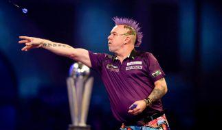 """Der amtierende Darts-Weltmeister Peter """"Snakebite"""" Wright ist einer von neun gesetzten Spielern bei der Premier League of Darts 2020, an der neun weitere Spieler als Contender teilnehmen. (Foto)"""