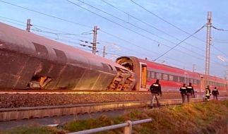 Im Norden Italiens ist der Schnellzug Frecciarossa entgleist, nachdem er Mailand in Richtung der süditalienischen Stadt Salerno verlassen hatte. (Foto)