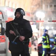 Amoklauf in Hanau:Hanau: Polizei und Rettungskräfte sind im Stadtteil Heumarkt im Einsatz.