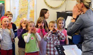 Kindergartenkinder in Sachsen sollen bald arabische Lieder singen und hören. (Symbolfoto) (Foto)