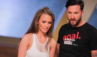 """Laura Müller und Michael Wendler. Das Wort """"Original"""" wurde auf seinem Shirt leider falsch geschrieben. (Foto)"""