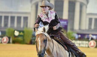 Gina-Maria Schumacher muss ihre Karriere im Westernreiten vorübergehend pausieren. (Foto)