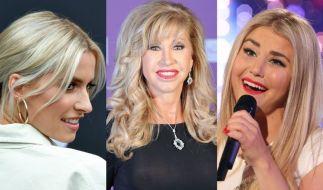 Lena Gercke, Carmen Geiss und Beatrice Egli fanden sich dank teils nackter Tatsachen dieser Tage in den Promi-News wieder. (Foto)