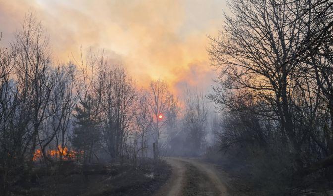 Waldbrand bei Tschernobyl
