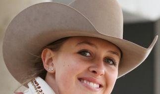 Gina Schumacher vertreibt sich die Corona-Quarantäne mit Reitsport. (Foto)