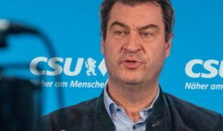 Markus Söder wirkte bei der Pressekonferenz am Montag ungepflegt und krank. (Foto)