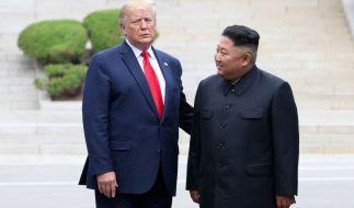 Trump weiß angeblich, wie es Kim Jong Un geht, dürfe aber nicht darüber sprechen. (Foto)