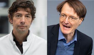 Die Meinungen von Prof. Christian Drosten und Dr. Karl Lauterbach zum Coronavirus passen nicht jedem. (Foto)
