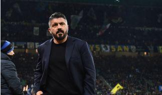 SSC Neapel-Trainer und Ex-Italien-Nationalspieler Gennaro Gattuso trauert um seine Schwester. (Foto)