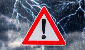 Am Wochenende drohen schwere Unwetter. (Foto)