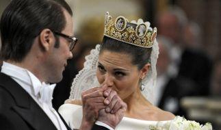 Kronprinzessin Victoria von Schweden und Daniel Westling heirateten am 19. Juni 2010. (Foto)