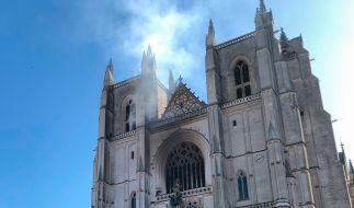Am Samstag ist in der Kathedrale von Nantes ein Feuer ausgebrochen. (Foto)