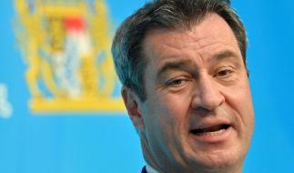 Markus Söder kündigt Testzentren an Grenzen und Autobahnen an. (Foto)