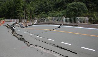 Eingebrochene Straßen sind in China keine Seltenheit. (Symbolbild) (Foto)