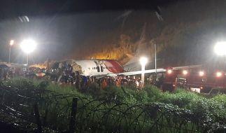Nach dem Absturz eines Passagierflugzeugs in Indien sind mindestens 17 Todesopfer zu beklagen. (Foto)