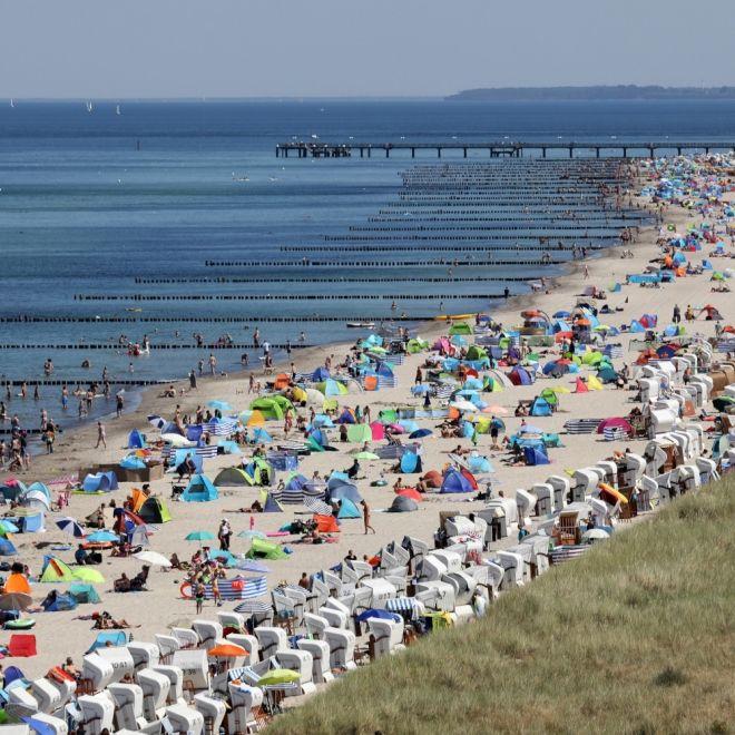 38 Grad! Hoch Detlef grillt Deutschland, Badestrände überfüllt (Foto)