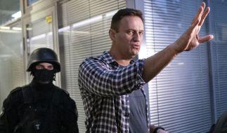 Der russische Regimekritiker Alexej Nawalny soll Opfer eines Giftanschlags geworden sein. (Foto)