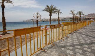 Blick auf eine leere Strandpromenade in dem Urlaubsort Eilat am Roten Meer im Süden Israels. In einem Hotel in der Küstenstadt soll es zum Missbrauch gekommen sein. (Foto)