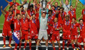 Die Bayern holen sich das zweite Triple in der Champions League. (Foto)
