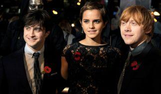 "Daniel Radcliffe, Emma Watson und Rupert Grint wurden durch ""Harry Potter"" berühmt. (Foto)"