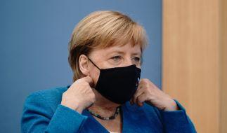 Angela Merkel ermahnt die Bevölkerung zur Einhaltung der Corona-Regeln. (Foto)