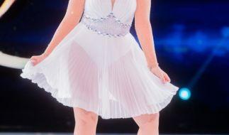 """Sarina Nowak während ihrer Teilnahem bei """"Dancing on Ice"""". (Foto)"""