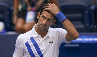 Novak Djokovic ist bei den US Open der Tennisprofis im Achtelfinale disqualifiziert worden. (Foto)