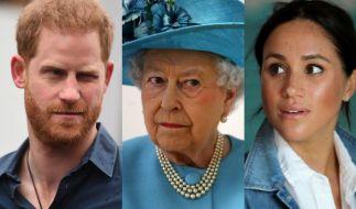 Angesichts der aktuellen Royals-News dürfte selbst Prinz Harry, Queen Elizabeth II. und Meghan Markle der Mund vor Staunen offen stehen geblieben sein. (Foto)