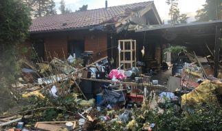 Bei einer Explosion in Isenbüttel würde ein Wohnhaus komplett zerstört. (Foto)